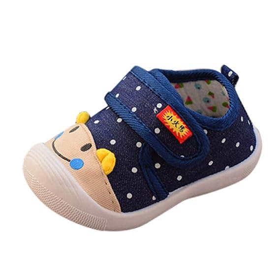 YanHoo Zapatos para niños Cara Sonriente de Dibujos Animados para niños Llamada Zapatos Zapatos para niños pequeños Zapatos Infantiles Antideslizantes de ...