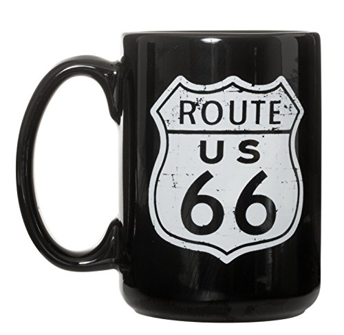 Route 66 Iconic American Highway Ceramic Coffee Mug 15oz ()
