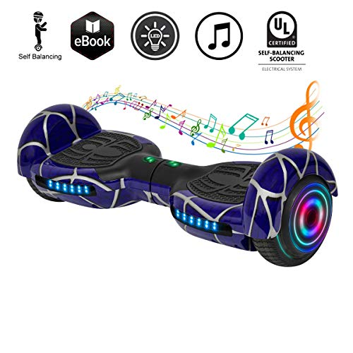 Ul2272 Certified 6.5 Hoverboard | Hover Board | Self Balancing Electric Scooter with Bluetooth&LED for Kids/Adult Cool…