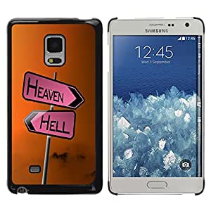 Planetar® ( Heaven & Hell Signs ) Samsung Galaxy Mega 5.8 / i9150 / i9152 Fundas Cover Cubre Hard Case Cover