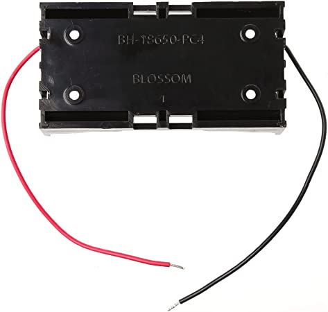 huiouer - Caja de Almacenamiento para 2 Pilas 18650 (3,7 V, con Cable): Amazon.es: Hogar