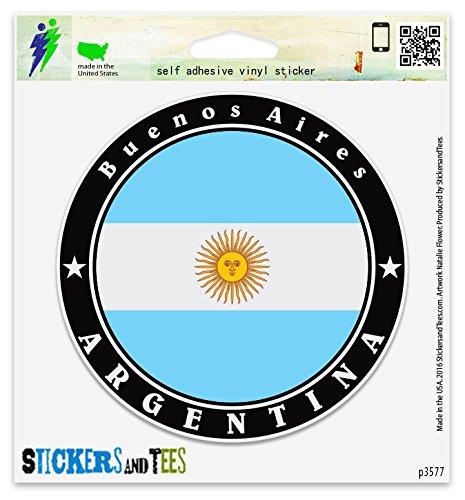 Argentina Buenos Aires Vinyl Car Bumper Window Sticker 2