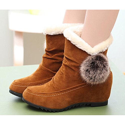 Yellow HSXZ Boots Nubuck for Shoes Flat Casual Boots Fall leather Burgundy Booties Fashion Women's Black Boots Comfort Heel Ankle Burgundy ZHZNVX Spring HqdwZZ