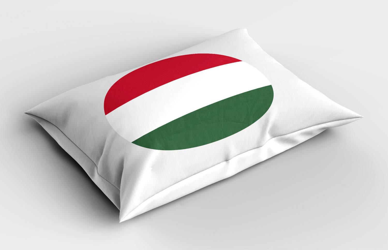 ABAKUHAUS Hungría Funda de Almohada, Símbolo de Hungría Bandera ...