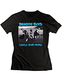 UrsulaA Women's Casual Beastie Boys Check Your Head T Shirt Black