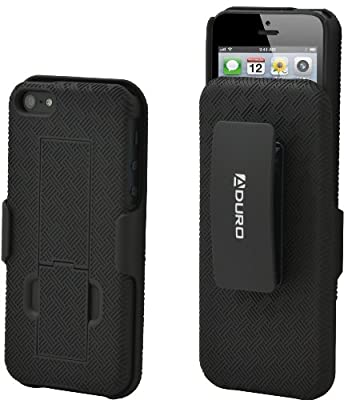 Aduro COMBO Shell Case & Holster for Apple iPhone with Kick-Stand & Belt Clip (At&t, Verizon, T-Mobile & Sprint) by DATA