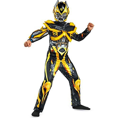 Optimus Prime Costume That Transforms (Hasbro Transformers Age of Extinction Movie Bumblebee Deluxe Boys Costume,)