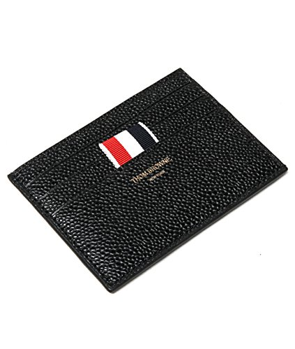wiberlux-thom-browne-mens-real-leather-striped-tag-card-holder-one-size-black