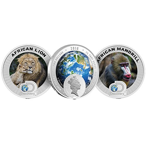 - 2016 NU Discovery Channel Endangered Species Africa 2 Coin Proof Silver Set 999 1.5 oz Silver Coin Each $2 Brilliant Uncirculated New