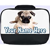 Pug Personalised Children's School Lunch Box / Bag