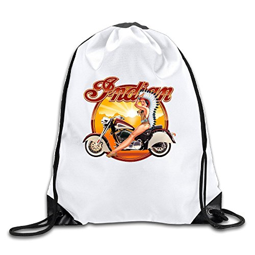 Acosoy Indian Motorcycle Drawstring Backpacks/Bags