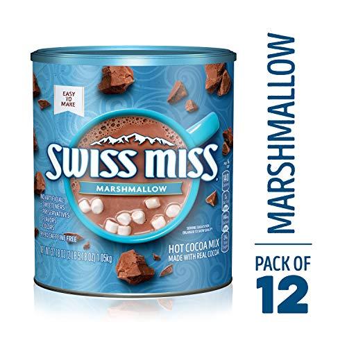 Swiss Miss Cocoa Milk Chocolate Marshmallow Canister, 37.18 Ounce (Swiss Marshmallows Miss Mini)