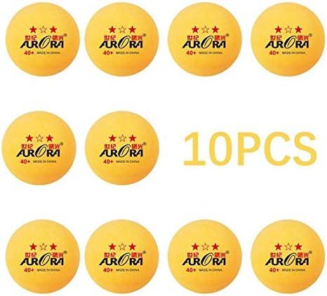 Cloverclover 10 Piezas De Práctica De Ping-Pong Pelota De Tenis De Mesa Equipo De Entrenamiento Partido/Amarillo