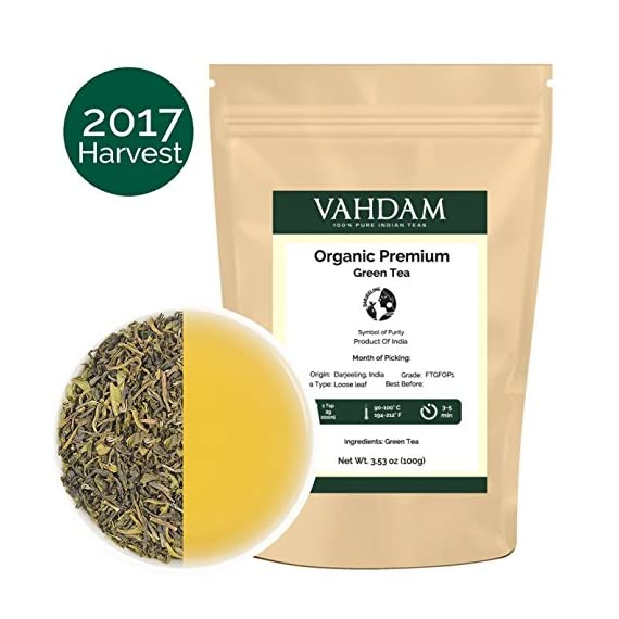 VAHDAM, Himalayan Green Tea Leaves (50+ Cups) I 100% NATURAL Green Tea I POWERFUL ANTIOXIDANTS I Best for Detox I… 1 SATISFACTION GUARANTEED - 100% MONEYBACK GUARANTEE - If you don't like the tea, we will issue a 100% REFUND immediately. No Questions Asked.