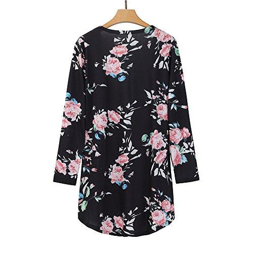 Kimono Kimono Giacca Casual Calda Casual Floreale Pizzo Beikoard Cappotto 3 Davanti Floreale Cerniera Donna da con Only Cappotto sul Aperta in Soprabito Cardigan Allentato Nero 8qwwHBn5