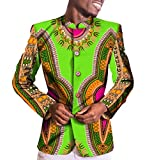 Vivi-Men Vintage Dashiki African Bridal Button Closure Sport Coat 9 XL