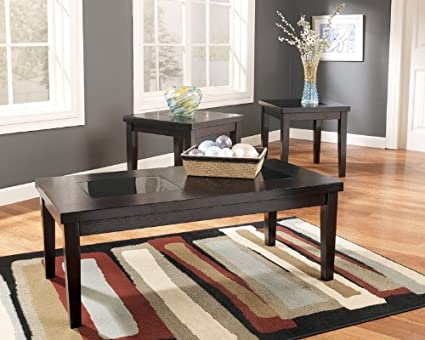 Amazon.com: Contemporary 3 Pc Coffee End Table Set Living Room ...