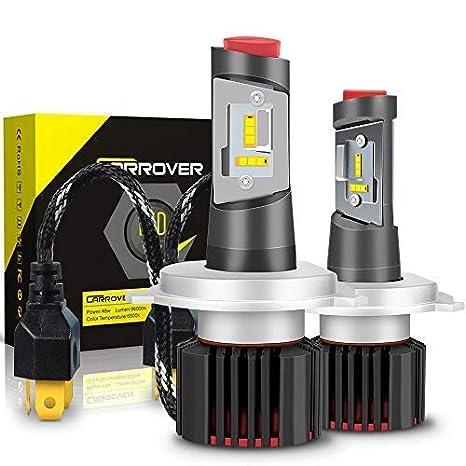 Bombilla H4 LED Coche, 9600LM Faros Delanteros Bombillas para Moto, Reemplazo de la Luz Halógena, 12V-24V, Xenon Blanco 6500K, 2 Lámparas: Amazon.es: Coche ...