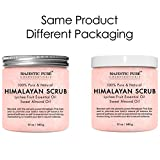 Himalayan Salt Body Scrub With Lychee Essential Oil From Majestic Pure All Natural Scrub To Exfoliate Moisturize Skin 12 Oz