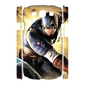 D-PAFD Captain America Customized Hard 3D Case For Samsung Galaxy S3 I9300
