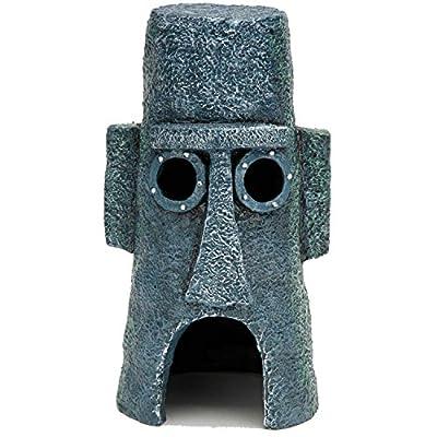 Penn Plax SpongeBob Squidward Easter Island Home Aquarium Ornament
