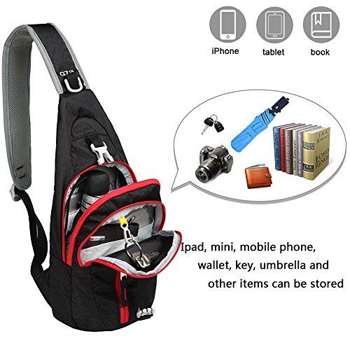 Business Black Sport Casual Daypack Travel Crossbody Chest Backpack Kimlee Messenger Shoulder For Bags Sling Hiking Women Men Bag x6OOpwSq