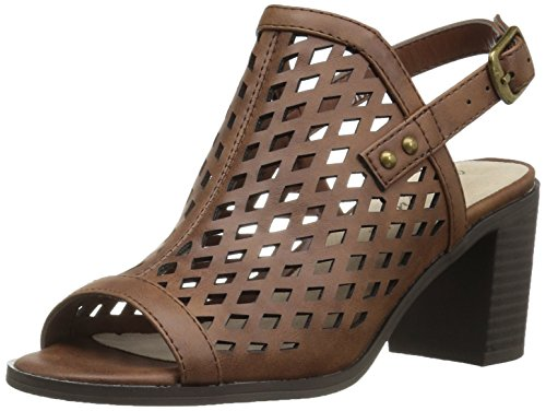 Easy Street Women's Erin Heeled Sandal, Brown Burnished, 8 M (Erin Shoes)