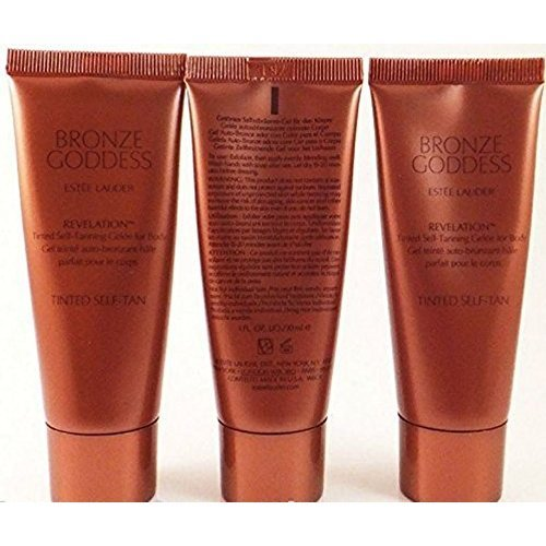 3x Estee Lauder Bronze Goddess Revelation Tinted Self-tanning Gelee Body 1 Oz
