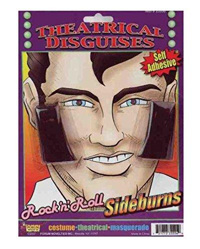 Forum Novelties Men's Rock N Roll Sideburns, Brown, Standard -