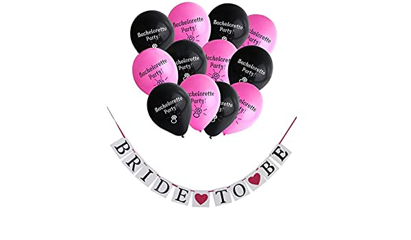 700d7076697 10inch Bride To Be Banner String Flag Single Party Decorated Balloons Girl  Night Wedding Latex Balloon Bachelorette Party Supply  Amazon.ca  Home    Kitchen