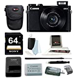 Canon PowerShot G9 X 20.2 MP Digital Camera (Black) with 64GB SDXC Card and Focus Accessory Bundle