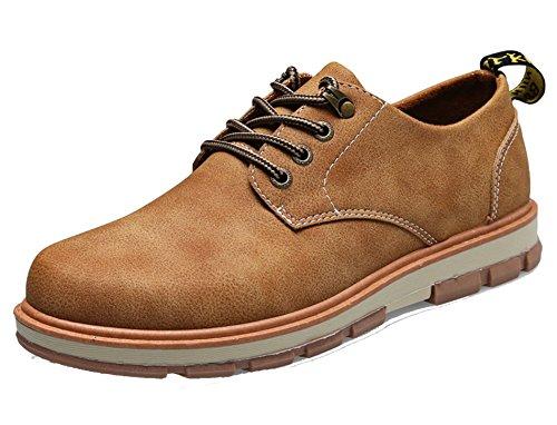 AgeeMi Shoes Uomo Scarpe da Sport Senza Tacco Stringati Scarpe Cachi