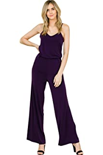 bf444ae272d5 Annabelle Women s Sleeveless Strap Racer Back Romper Jumpsuits with Pockets