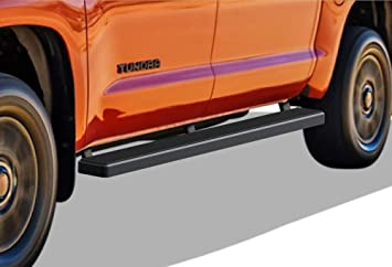 """4/"""" Curved Black Side Steps Nerf Bar Fit 2007-2019 Toyota Tundra Double cab"""