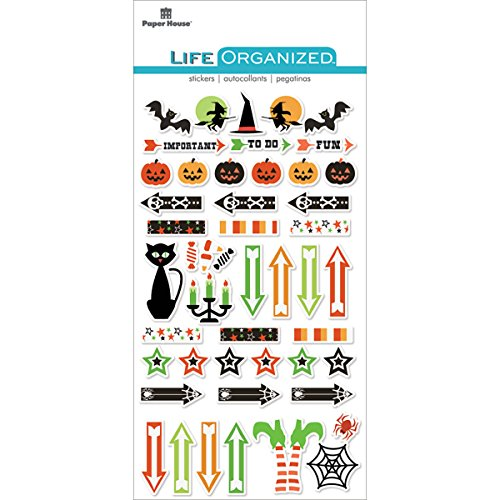 Paper House Productions Halloween Stickers, Epoxy, 3-Pack