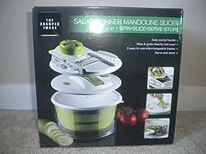 The Sharper Image® 4-In-1 Salad Spinner Mandoline Slicer