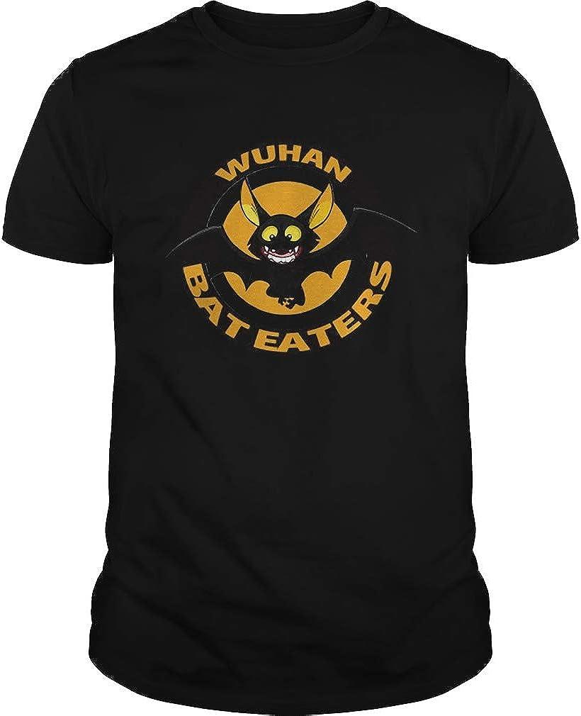 Wu.han Ba.t E.aters Unisex - Camiseta con estampado frontal para hombre y mujer