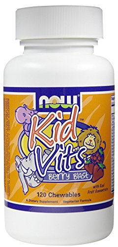 - Kid Vits, Berry Blast ,120 Tabs by Now Foods (Pack of 3)