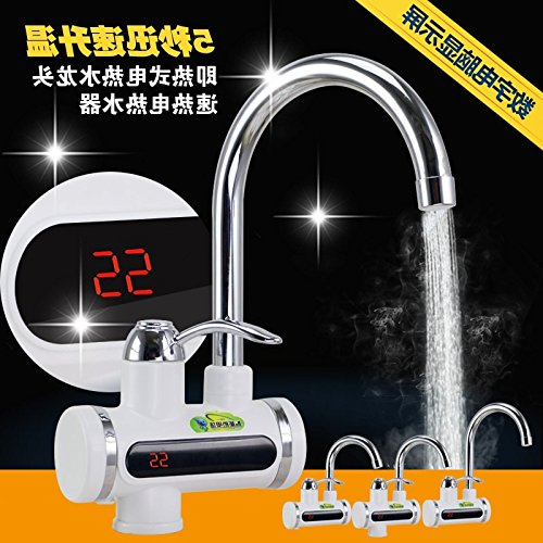 Gyps Faucet Basin Tap Waterfall Faucet Bathroom The hot Water tap hot Water tap Save Power with The Faucet hot and Cold-Water Faucet Kitchen Stainless Steel Screen displays (Side Water (Hot De Li Display System)