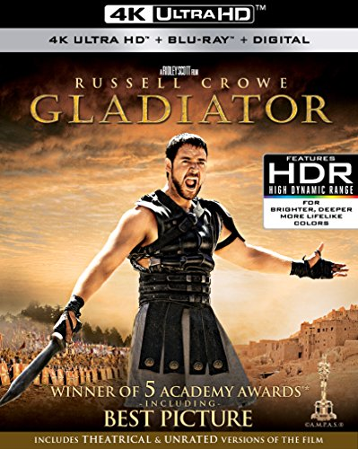 4K Blu-ray : Gladiator (With Blu-Ray, 4K Mastering, 3 Pack, Widescreen, Digital Theater System)