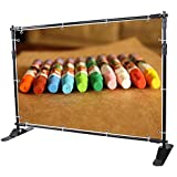 WinSpin 8 Step and Repeat Display Backdrop Banner Stand Adjustable Telescopic Trade Show Wall Exhibitor