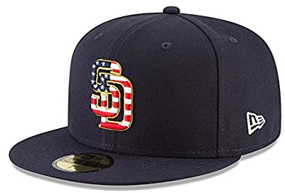 New Era San Diego Padres Navy 4TH of July Cap 59fifty 5950 Fitted MLB Limited Edition