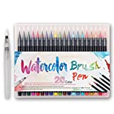 #1: Watercolor Brush Pens 20 Set, Soft Flexible Brush Tips, Perfect for Children and Adults Drawing, Painting, Coloring, Sketching, Calligraphy, Writing, Art, Odorless Non Toxic Ink and Paint