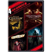 4 Film Favorites: Slasher Films (The Texas Chainsaw Massacre, Nightmare on Elm Street (2010), Friday the 13th (2009), Amusement)