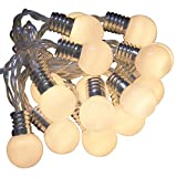 Qbis Indoor fairy lights with 16 Warm White LEDs on Clear Cable with timer (Opaque)