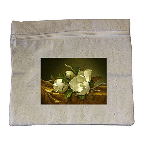 Magnolias Gold Velvet Cloth (Mj Heade) Canvas Zippered Pouch Makeup Bag ()