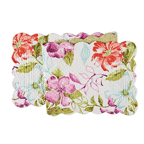 Table Runner, 14x51 inches, Clara Flower Design, Quilted - Flowers Table Runner