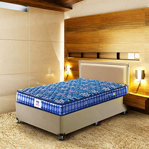 Peps Springkoil Bonnell 6 inch Single Size Spring Mattress  Dark Blue, 72x35x06  with Free Pillow