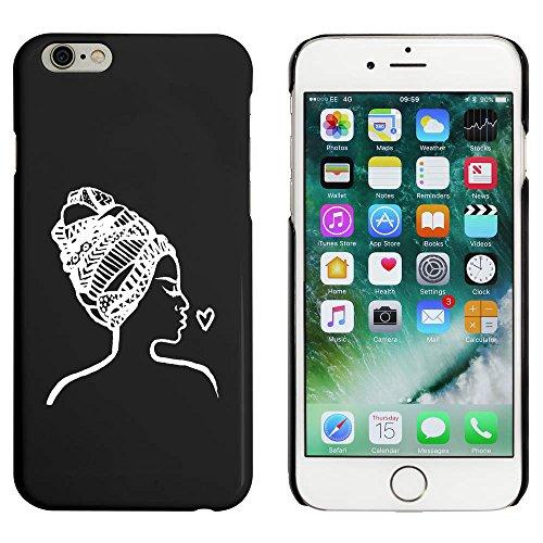 Noir 'Femme au Foulard' étui / housse pour iPhone 6 & 6s (MC00045941)