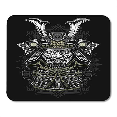 Boszina Mouse Pads Demon Tattoo Samurai Japanese Japan Ninja Mask Helmet Warrior Mouse Pad for notebooks,Desktop Computers mats 9.5